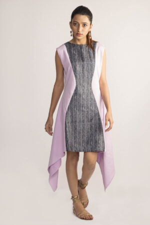 Evensong Asymmetrical Tussar Silk Dress By TAMASQ