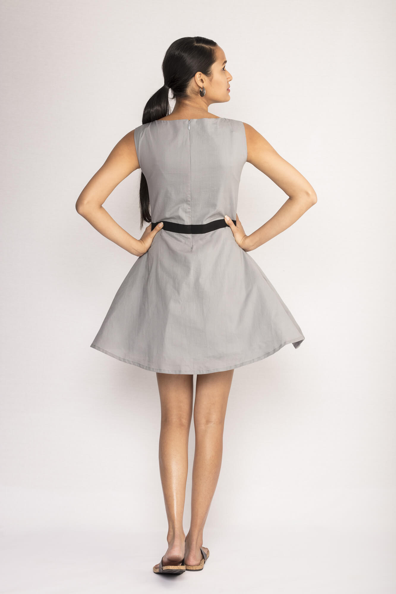 Grey Organic Cotton Dress By TAMASQ