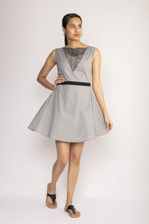 Grey Circular Dress By TAMASQ