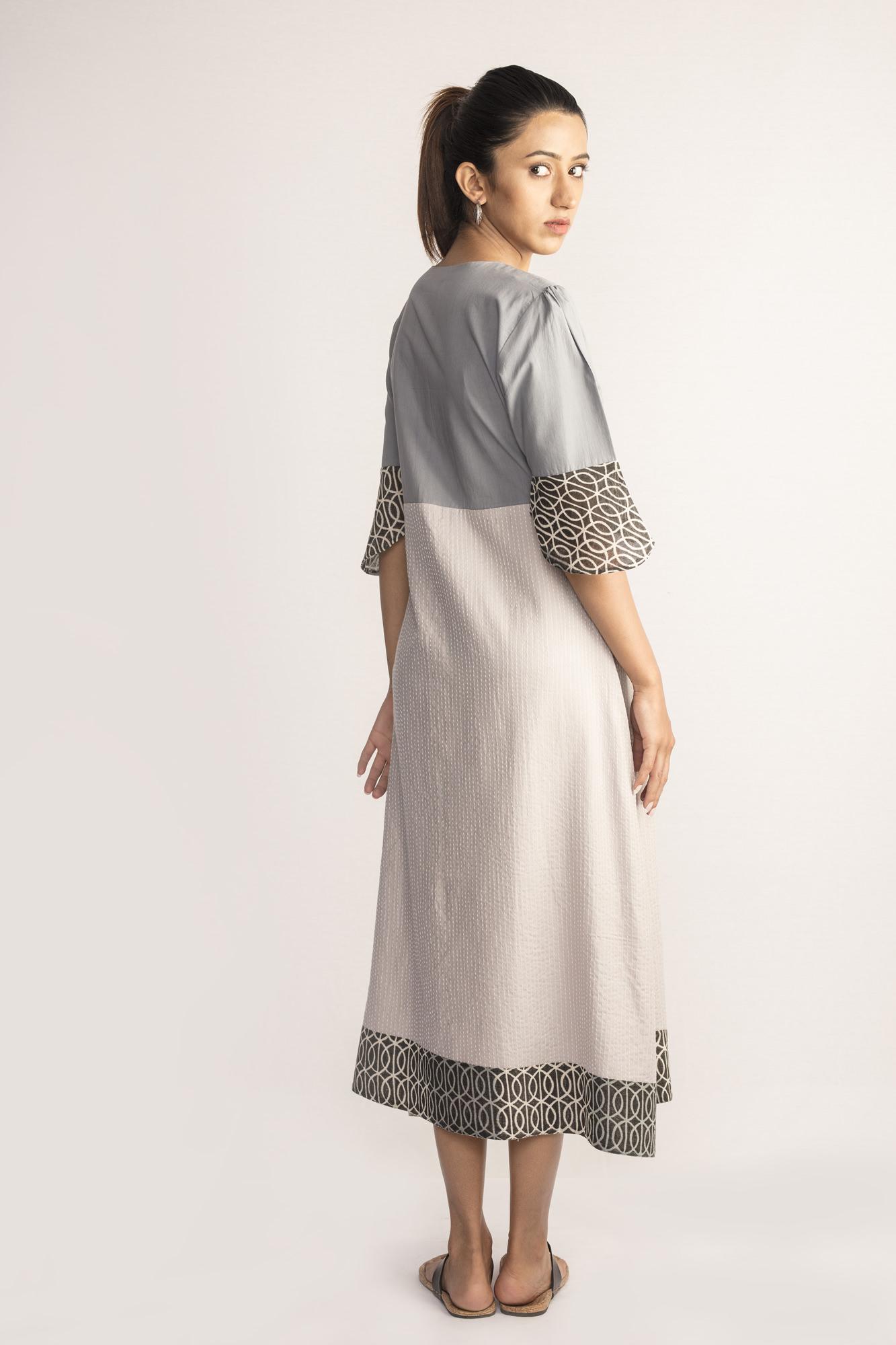 Grey Ikat Midi Dress By TAMASQ