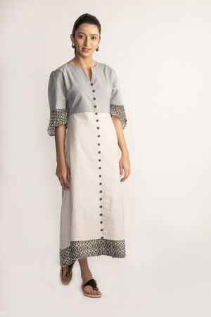 Grey Ikat Midi Dress By TAMASQ