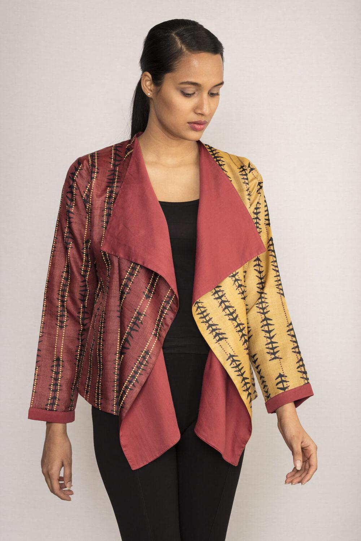 Festive wear Tussar Silk Jacket By TAMASQ