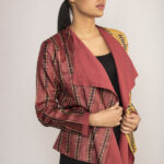 Ombre Dyed Tussar Silk Jacket By TAMASQ