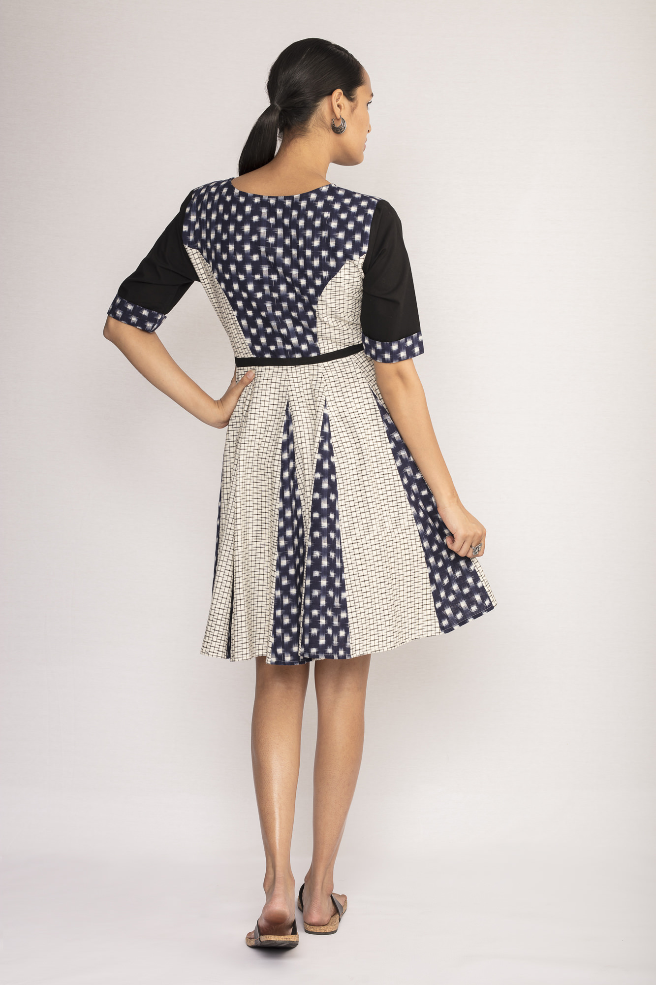 Ikat Fit and Flare Dress By TAMASQ