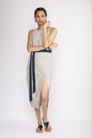 Ikat Long Slit Dress By TAMASQ