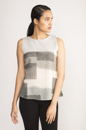 Ikat Sleeveless Top By TAMASQ