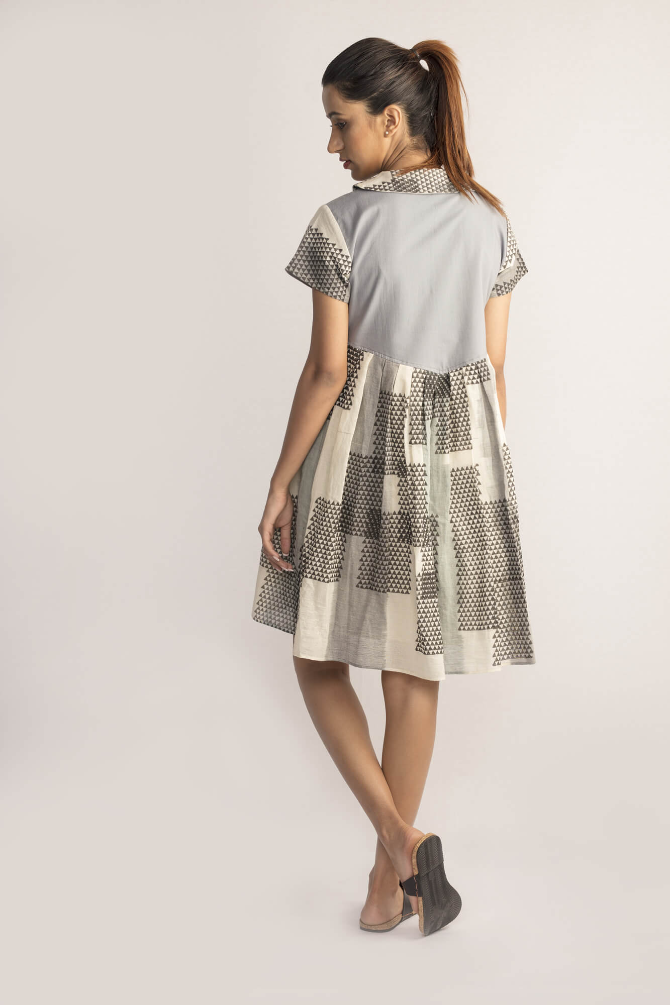 Ikat Collared Dress By TAMASQ