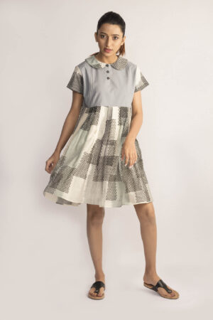 Ikat Collared Dress By TAMASQ