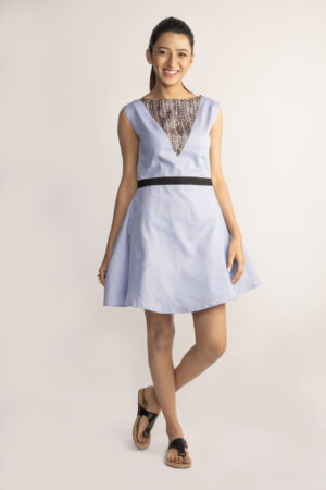 Lavender Tusser Silk Dress By TAMASQ