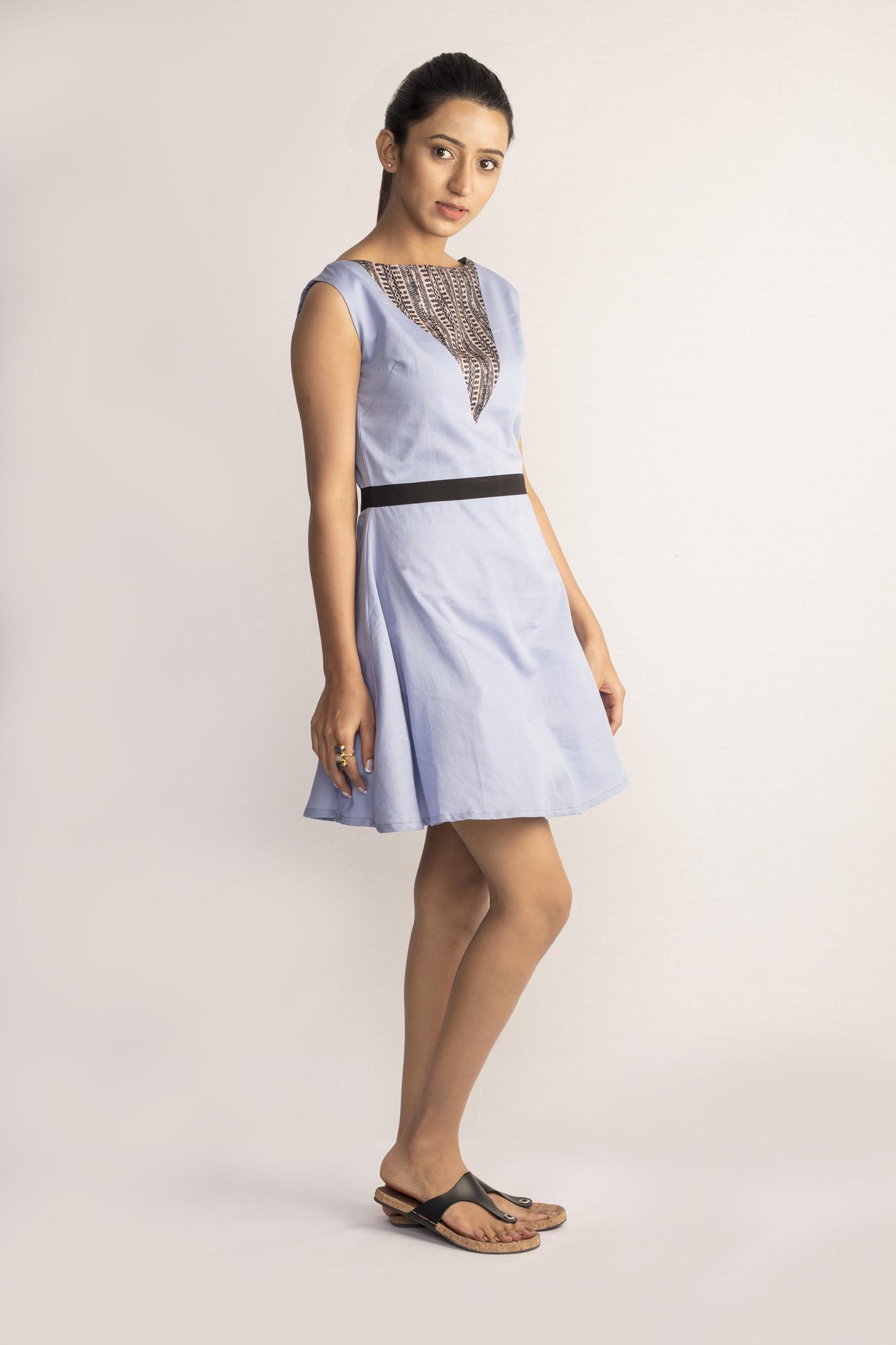 Lavender Tusser Silk Dress By TAMASQ
