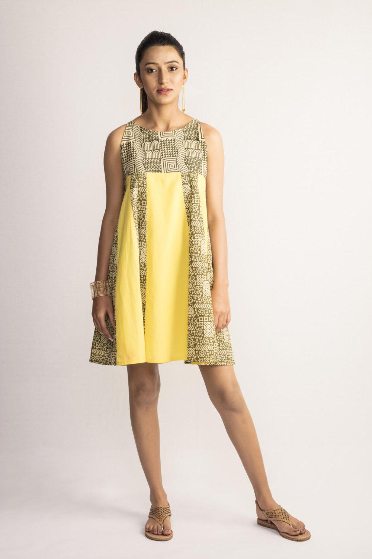 Mustard Yellow Cotton Sundress By TAMASQ