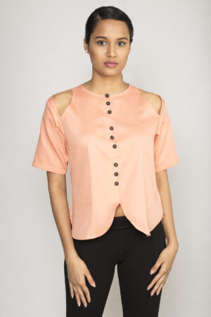 Peach Kantha Top By TAMASQ