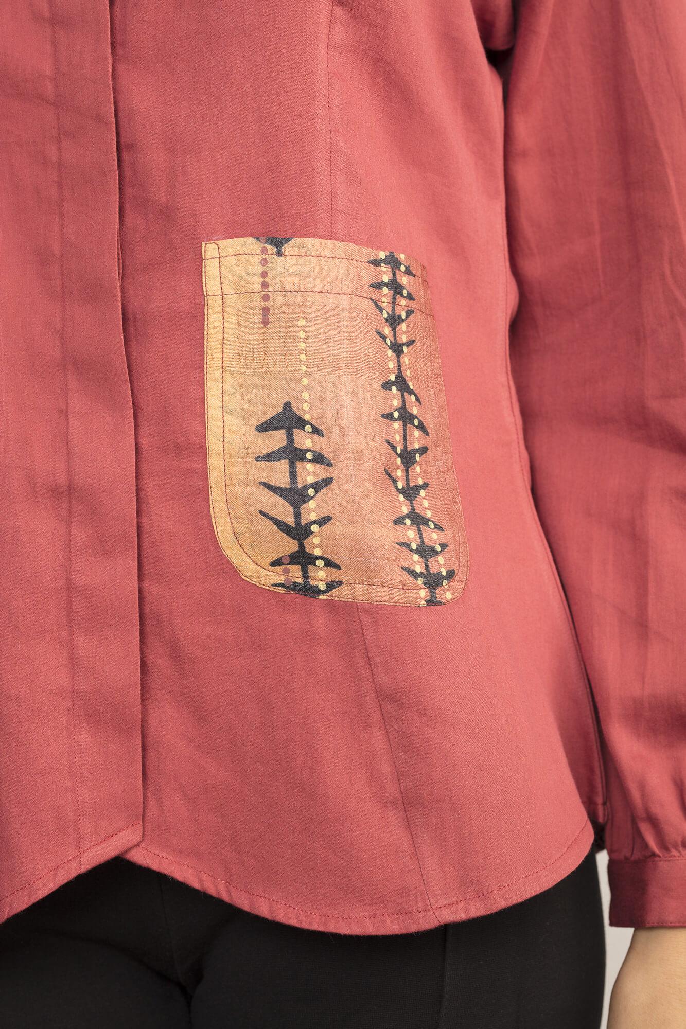 Peach Patch Pocket Shirt By TAMASQ