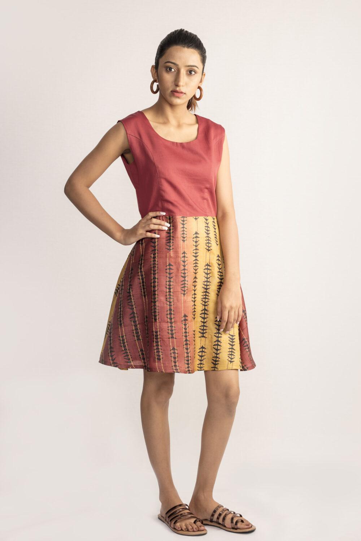 Dusky Tussar Silk Dress By TAMASQ