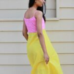 Lily Pink Yellow Cotton Dress By TAMASQ
