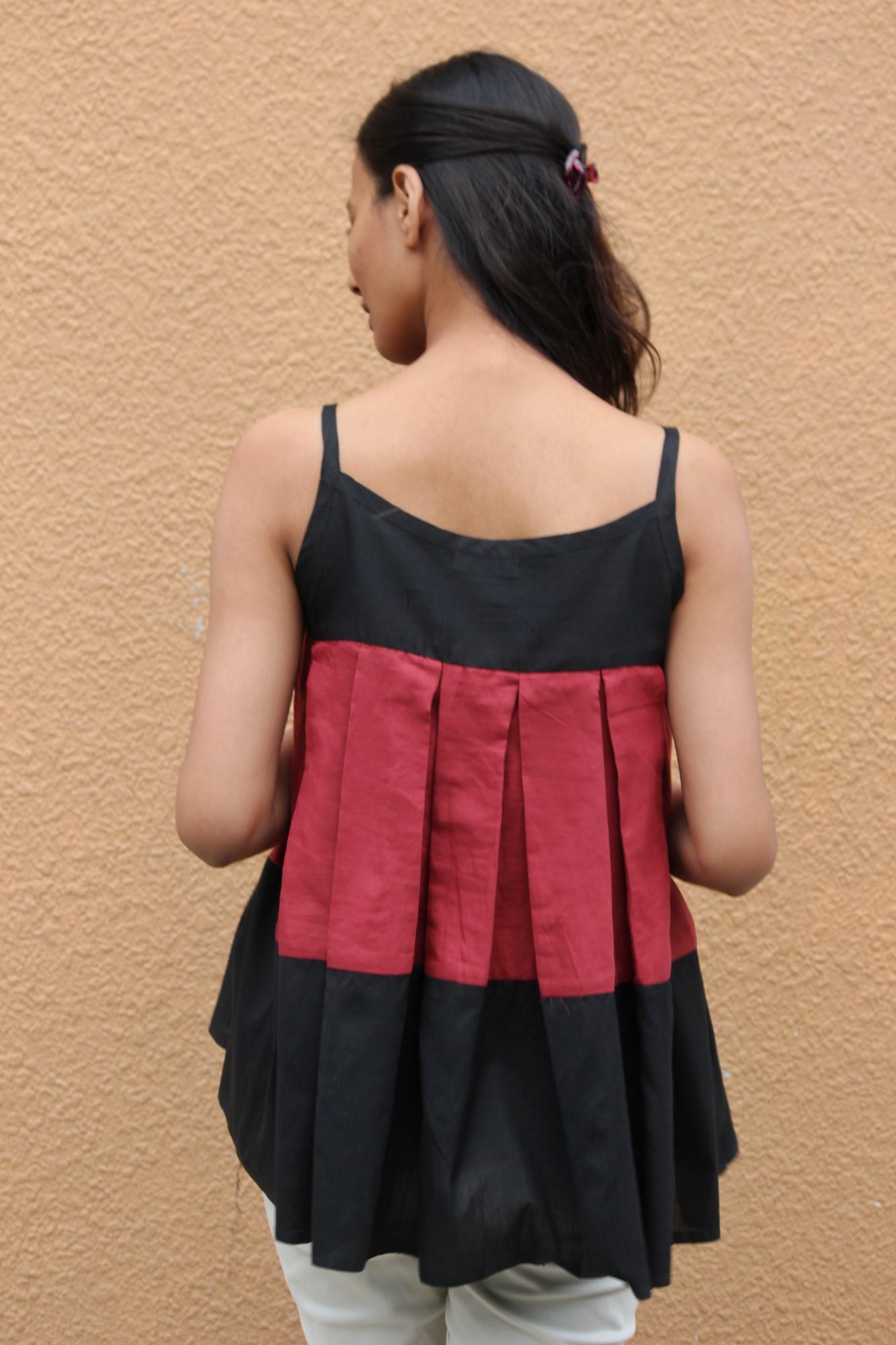 Stripey Cotton Top By TAMASQ